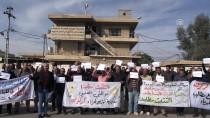 SÖZLEŞMELİ - Kerkük'te Elektrik Dağıtım Şirketi Çalışanlarından 'Kadro' Eylemi