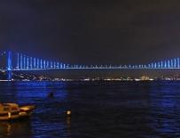 FATIH SULTAN MEHMET KÖPRÜSÜ - İstanbul çocuklar için maviye büründü