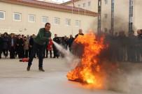 AHMET TURAN - Emniyet Personeli Deprem Ve Yangın Tatbikatı Yaptı