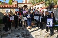SIYAH BEYAZ - Sökeli Kadınlar Kadına Şiddeti Kınadı
