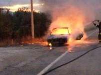 LPG'li Otomobil Seyir Halindeyken Alev Aldı