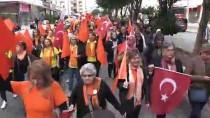 ŞİDDETE HAYIR - Mersin'de 'Kadına Yönelik Şiddete Hayır' Yürüyüşü