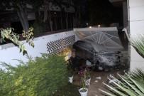 KADIN SÜRÜCÜ - Otomobil Önce Ağaçları Biçti, Sonra Evin Bahçesine Uçtu