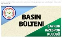 VE GOL - Çaykur Rizespor'dan Hakem Kararlarına Tepki