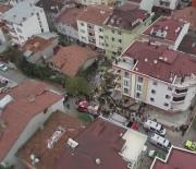 ASKERİ HELİKOPTER - Sancaktepe'de Askeri Helikopterin Düştüğü Sokak  Havadan Görüntülendi