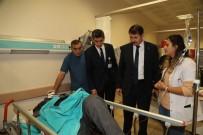 SİVAS VALİSİ - Vali Ayhan'dan Tren Kazasındaki Yaralılara Ziyaret
