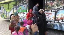 Kumru'da Çocukların 'Sinema Otobüsü' Keyfi