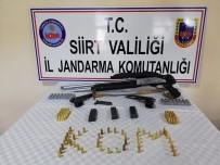 RUHSATSIZ SİLAH - Siirt'te Silah Ve Mühimmat Ele Geçirildi