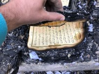 CAMİ İMAMI - Yanan Lojmanda Kur'an-I Kerim Zarar Görmedi
