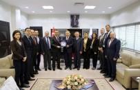 KUZEY KıBRıS TÜRK CUMHURIYETI - Kıbrıs Türk Sanayi Odası'ndan KAYSO'ya Ziyaret