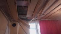 Kopan Kaya Parçaları Evlerin Yatak Odası Ve Tuvaletine Düştü