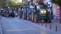 Çiftçiler Pancar Alım Kotasına Tepki İçin Traktörlerle Şehre İndi