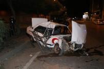 Hurdaya Dönen Araçtan Yara Almadan Çıktı Polise Mukavemetten Gözaltına Alındı