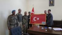 Mihalgazi Kadınlarının Ördüğü El Örgüsü Türk Bayrağı Afrin'e Ulaştı