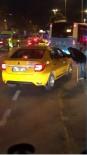 BÜYÜKDERE - Rezalet! Taksici kameralara yakalandı