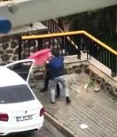 DAYAK - İzmir'de Bir Kadının Şiddet Gördüğü Korkunç Anlar Kamerada