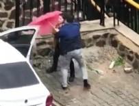DAYAK - Sokak ortasında kadına şiddet