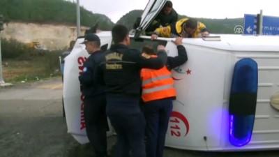 Muğla'da Hasta Taşıyan Ambulans İle Pikap Çarpıştı Açıklaması 4 Yaralı