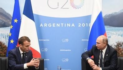 Putin, G20 Liderler Zirvesi'nde Macron İle Görüştü