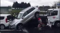 TRAFİK YOĞUNLUĞU - TEM'de Zincirleme Trafik Kazası