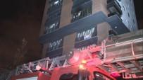 CADDEBOSTAN - 14 Katlı Apartmanda Yangın Paniği