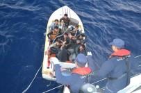SÜRAT TEKNESİ - Denize Açılan Göçmenleri Sahil Güvenlik Kurtardı