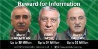 CEMIL BAYıK - ABD 3 PKK'lı Terörist İçin 12 Milyon Dolar Ödül Koydu