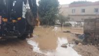 Mardin'de Beyazsu Hattı Patladı, 12 Ev Sular Altında Kaldı