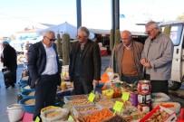Başkan Karaaslan Uçhisar'da Pazar Esnaflarını Ziyaret Etti