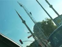 İNTIHAR - Dolmabahçe'de mobese direğinde intihar girişimi
