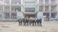 Bülent Ecevit Üniversitesi Yeni Kütüphane Binası İnşaatını İncelediler