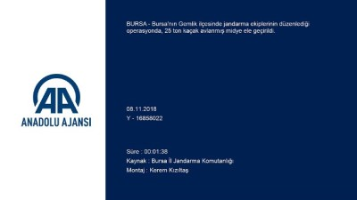 Bursa'da İnsansız Hava Aracıyla Kaçak Midye Operasyonu