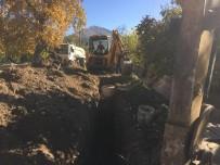 ÇIÇEKLI - Eğirdir'de Kanalizasyon Çalışmaları