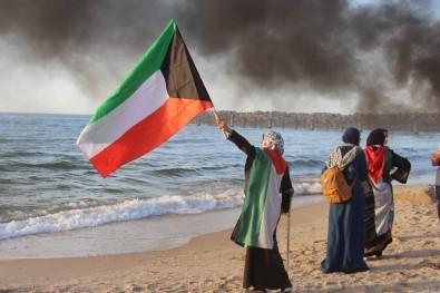 Gazze Sınırında 1 Filistinli Hayatını Kaybetti