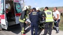 Muğla'da Otomobil Direğe Çarptı Açıklaması 3 Yaralı