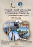 Trakya Üniversitesi '11. Türk-Yunan Ortopedi Ve Travmatoloji Günleri'ne Ev Sahipliği Yapacak