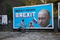 LONDRA - Aktivistlerden 'Putin'li Brexit Eleştirisi