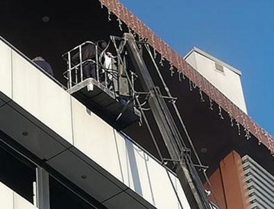 AVM'de yangın: Vatandaşlar üst katta mahsur kaldı
