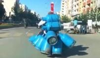 TRAFİK TESCİL - Batman'da 15 Mutfak Tüpü Taşıyan Motosikletli Yakalandı