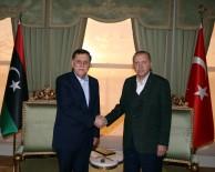 VAHDETTIN - Cumhurbaşkanı Erdoğan, Libya Başkanlık Konseyi Başkanı Al-Sarraj'ı Kabul Etti