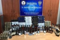 Sakarya'da Kaçak Sigara Ve İçki Operasyonu