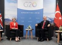 THERESA MAY - Erdoğan, İngiltere Başbakanı May'le Bir Araya Geldi