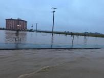 SU TAŞKINI - Nusaybin'de Yağış Sonrası Dağdan Gelen Sular Sele Sebep Oldu