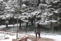 HATIRA FOTOĞRAFI - Gölcük Tabiat Parkı Beyaz Örtüyle Kaplandı