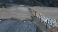 Sincik'te Dereler Taştı Köprüleri Su Bastı