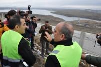 Vali Türker Öksüz, Kars Barajı'nda İncelemelerde Bulundu