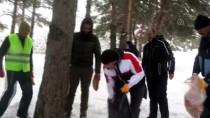 ALLAHUEKBER DAĞLARI - Kars'ta, Doğadaki Yabani Hayvanlara Yem Bırakıldı