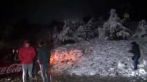 KAR TOPU - Muğla'nın Yüksek Kesimlerine Kar Yağdı