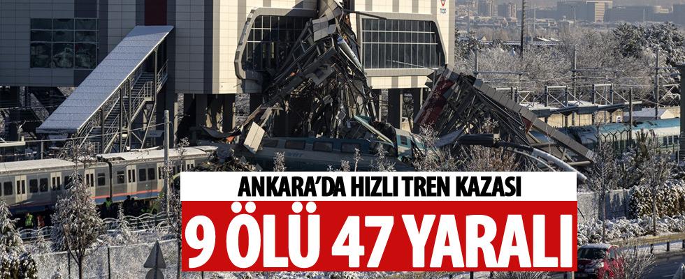 Ankara'da Yüksek Hızlı Tren kaza yaptı