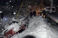 Buzlanma Ve Kar Sürücülere Zor Anlar Yaşattı